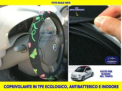 Coprivolante auto donna Fiat 500 dal 2007> universale in Velluto volanti copri
