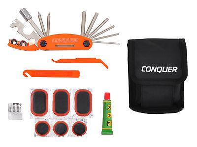 Multi Function Bike Tool With Patch Kit   Tire Levers 18 Function