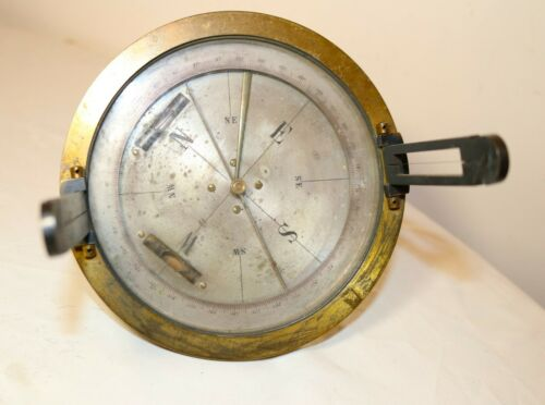 rare antique 19th century Brass glass Surveyor