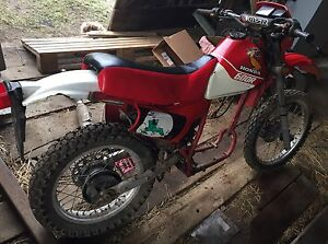 1984 Honda XL600R dirt bike parts/project with ownership