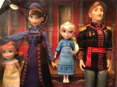 Disney Frozen 2 Arendelle Royal Family Doll Set toddler Anna Elsa dolls Hasbro
