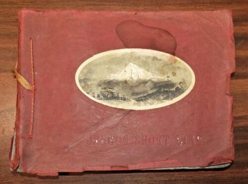Rare view book OREGON SHORT LINE RAILROAD Barkalow 1890s trains Portland history