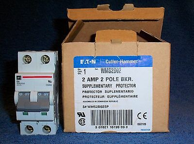 Mini Circuit Breaker (NIB Mini Circuit Breaker: Eaton 2A 2P Thermal Magnetic Current Limiting D Curve)