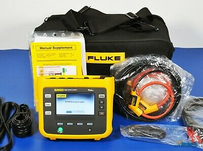Fluke 1732eus 3 Phase Electrical Energy Logger 1500a Probes Nist Calibrated