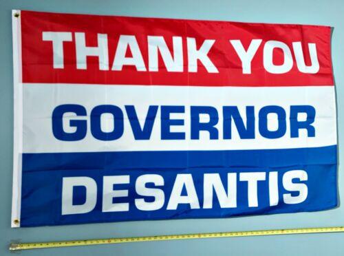 RON DESANTIS FLAG FREE SHIP USA SELLER! Thank You Gov Desantis 2024 USA Sign 3x5