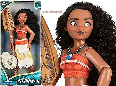 Moana With Boat And Paddle 11  Classic Doll  Disney Store  Free Usa Ship