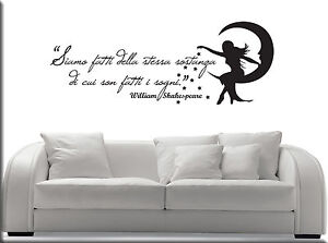WALL-STICKERS-STICKER-ADESIVI-MURALI-ADESIVO-FRASI-WILLIAM-SHAKESPEARE-WS0938