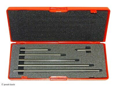 Dial Indicator Extension Rod Set 1 To 6 6-pc Set Machinist Measuring Tools