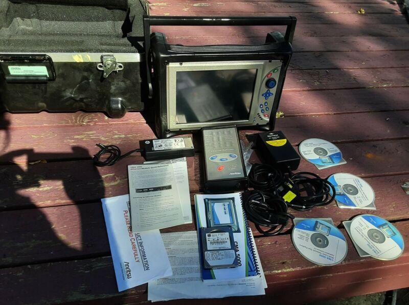 ANRITSU CMA-5000 OTDR + 5700 GIGE Ethernet Fiber Reflector & Flight Case