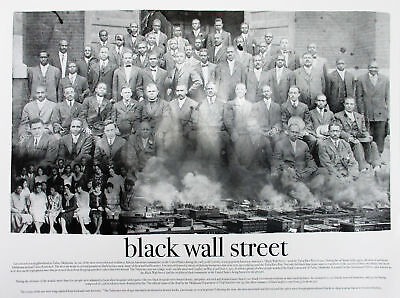 African American History Posters - Black Wall Street Poster Photo Art Print African American History (18x24)