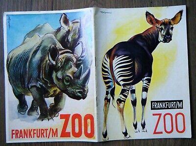 Zoologischer Garten Wegweiser durch den Zoo Frankfurt a.M. Tiere Hessen 1957
