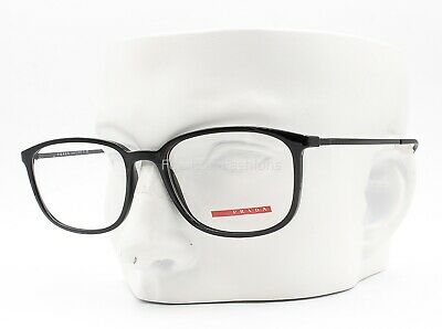 Prada Sport VPS 03H 1AB-1O1 Eyeglasses Optical Frames Glasses Black 55mm (Prada Men Glasses)