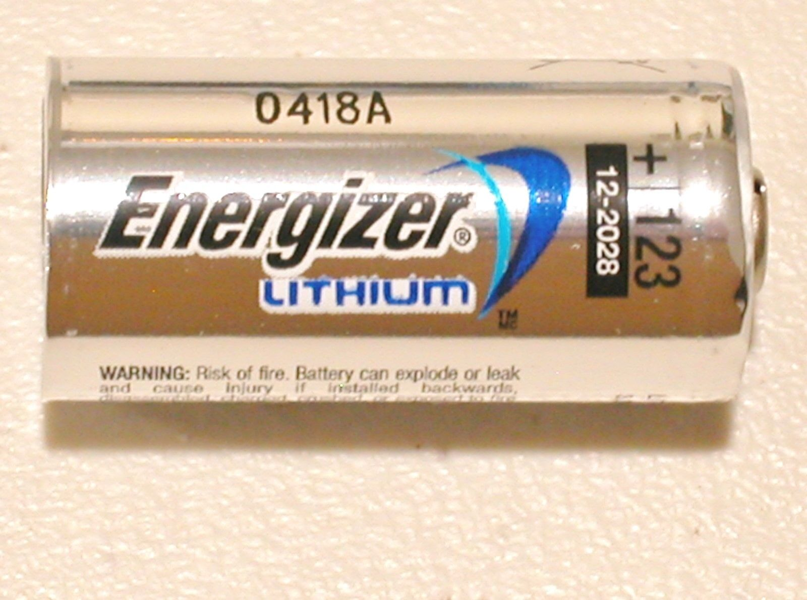 4 NEW ENERGIZER CR123 123 DL123 LITHIUM BATTERY CR123A