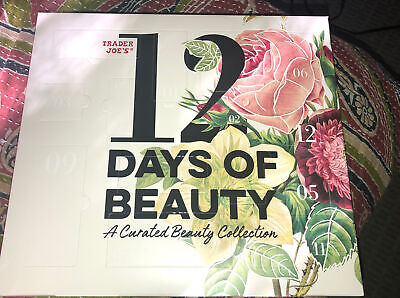 2020 Trader Joe's 12 Days of Beauty A Curated Collection Holiday Advent Calendar