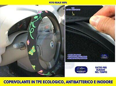 Coprivolante auto donna Fiat Panda 169 2003>2011 universale in Velluto volanti 1