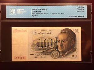 1948-West Germany - 100 Mark Banknote