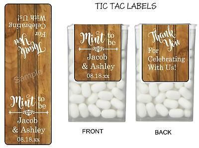 56 Rustic Wood Wedding Favor Tic Tac Labels Stickers Wrappers](Rustic Bridal Shower Favors)