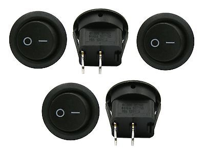 5 Pack 6a 250v 10a 125v Spst Onoff 2 Position Mini Round Rocker Switch 12v