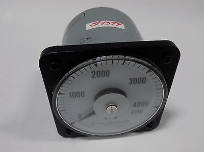 General Electric 0-4200 Rpm Speed Variator Panel Meter