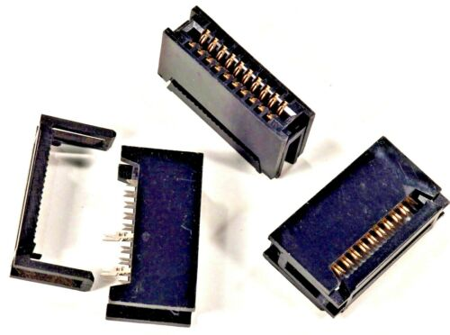 PCB Card Edge Connector. 20 way IDC (2x10 way). 2 Part. Qty one.