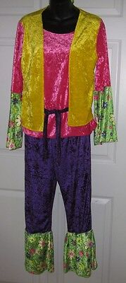 New Groovy Disco 70's Peace Child 3pc Womens Flower Costume S / M