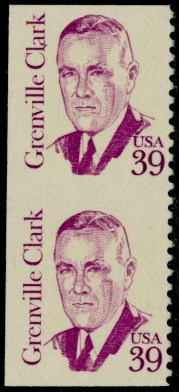 "#1867a ""grenville Clark"" Vertical Pair, Imperf Major Error Bq5206"