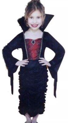 NWT Girls Size Small 4-6 Gothic Vampire Queen Countess Halloween Costume Dress](Vampire Halloween Costumes Walmart)