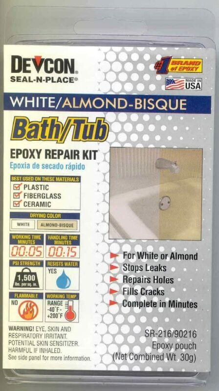 Ap Products Rv Trailer Camper Bathroom Bath Tub Epoxy Repair Kit Almond/white