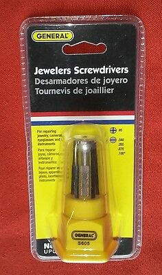 New General S605 JEWELERS SCREWDRIVERS 5 Blade Set for Repairing...... UPC 42565