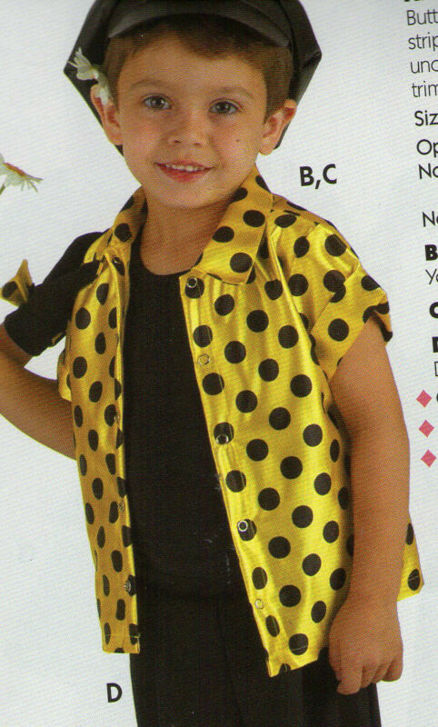 NEW Satinette Dotted Yellow Shirt Unisex XSmall Child Snap front girl boy 2-4