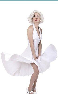 Marilyn Monroe Costume Hollwood Starlet White Halter Dress Polyester - Marilyn Monroe Costumes