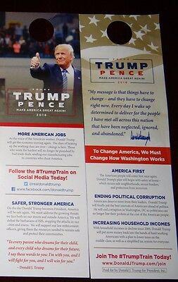 10 Donald Trump Mike Pence 2016 Official Door Knocker Walk Card