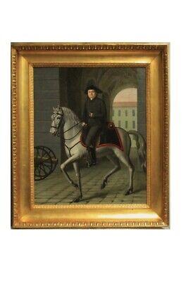 Gentleman on Horseback, Oil Canvas Period Nineteenth Century/Portrait