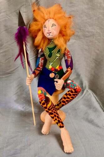 "Cloth Art Doll Sewing Pattern ""Safari Girl"" By Jan Horrox"
