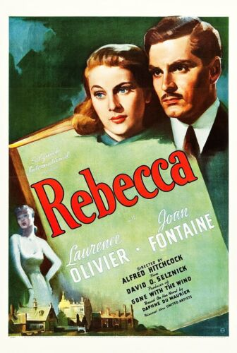 REBECCA *2X3 FRIDGE MAGNET* MOVIE POSTER HOLLYWOOD FILM THEATER HITCHCOCK
