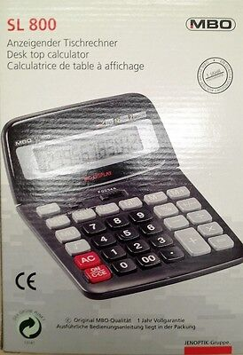 SL800 Desktop Calculator 8 Digit Large Button School Home Office Battery Solar