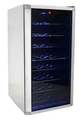32-Bottle Wine Cooler Refrigerator Cellar Electronic Adjustable