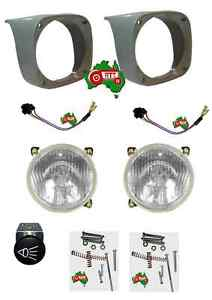 Massey Ferguson Tractor Head Light Lamp Complete Kit 135 148 165 168 175 188 etc