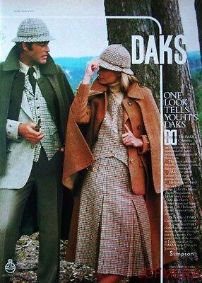 1978 Simpson 'DAKS' Clothing Advert #4 - Original Fashion Print AD