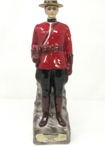 Vintage 1969 Mounted Police Mountie Canadian Mist Whiskey Decanter EMPTY