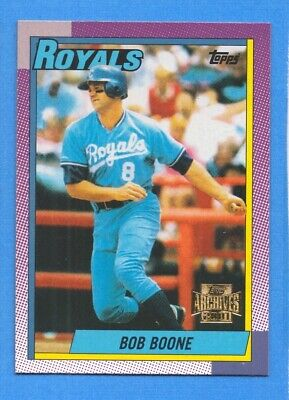 2001 Topps Archives #374 Bob Boone Royals 1990