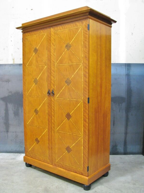 Scarce Councill Furniture Biedermeier Style Armoire; Drawers, Shelves & Dividers