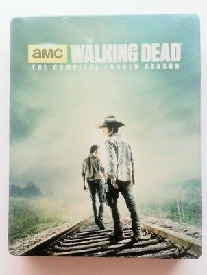 The Walking Dead  (Fourth 4 Season Blu-ray 5-Disc) Rare Steel box collection set for sale  Shipping to Canada