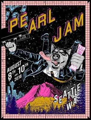 PEARL JAM 2018 FAILE EXCLUSIVE SEATTLE SAFECO FIELD PJ CONCERT POSTER for sale  Shipping to India