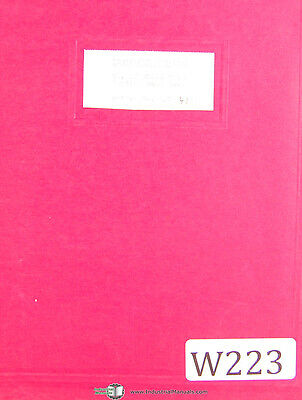 Wells No. 12 Metal Cutting Band Saw Instructions Manual Year 1996
