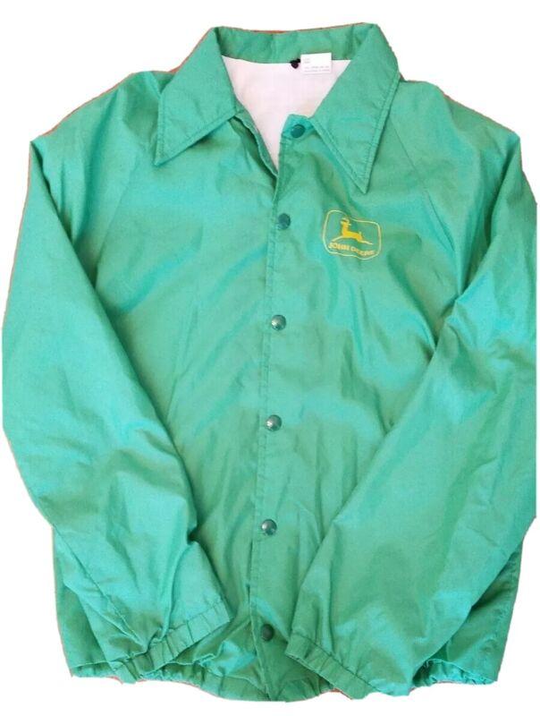 Vintage John Deere Small Green Jacket 80s Snap Front