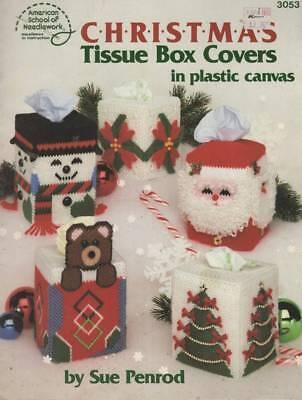 TNS Christmas Tissue Box Covers Plastic Canvas Patterns FREE SHIPPING (Free Box Patterns)