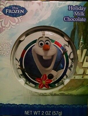 Disney Frozen Olaf Holiday Milk Chocolate Candy Medallion 2 Oz Valentines Gift