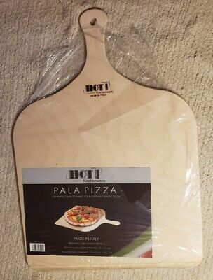 Hot Kitchenware Birch Wood Pizza Peel Made In Italy 11.4 X 16.3 X 0.23 Inches