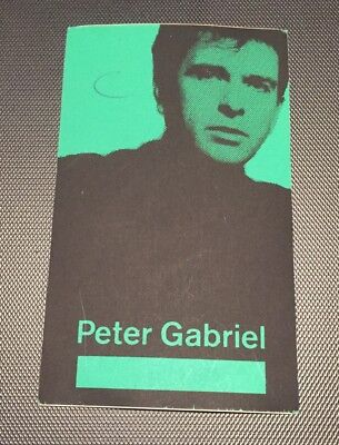 PETER GABRIEL 1986 So Tour Backstage Pass VIP Working Crew This Way Up